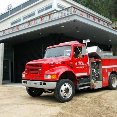 Poorman Fourmile Fire Station